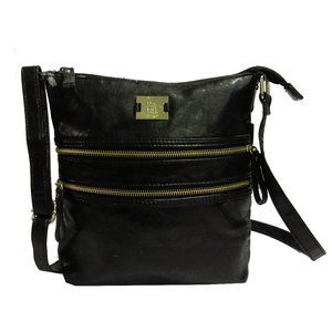 Style & Co Black Leather Crossbody Bag:$63.00